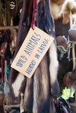 Wild animals fur medieval market Stock Photo