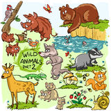 Wild animals, hand drawn collection, part 2 Stock Images