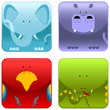 Wild animals - icon set 1 vector illustration