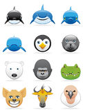 Wild animals icons Stock Image