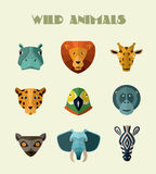 Wild animals icons. Vector format. Stock Images