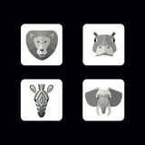 Wild animals icons. Vector format. Royalty Free Stock Photography