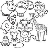 Wild animals illustration Stock Photo