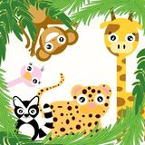 Welcome to the zoo royalty free illustration