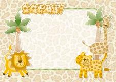 Cute safari wallpaper Stock Image