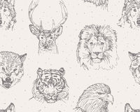 Wild animals pattern Royalty Free Stock Photo
