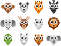 Wild animals pointer icons stock illustration