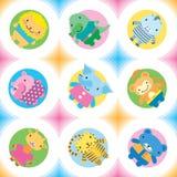 Wild animals seamless pattern. Little animals (wild) seamless pattern. Vector illustration vector illustration