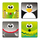 Wild animals - set icon 3 Royalty Free Stock Photography