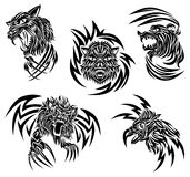 Wild animals tattoo Stock Images