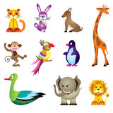 Wild animals toys Royalty Free Stock Photos