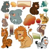 Wild animals vector set Royalty Free Stock Photography