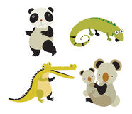 Wild animals. Vector set of cartoon wild animals Stock Image