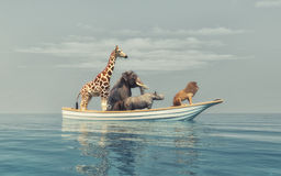 The wild animals stock illustration