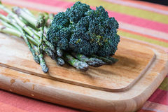 Wild asparagus and broccoli Royalty Free Stock Photo