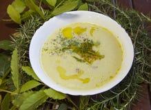 Wild asparagus creamy soup Stock Photos