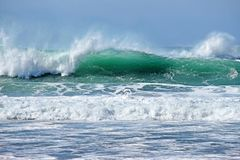 Wild atlantic ocean with high waves royalty free stock image