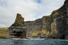 Wild Atlantic Way  Boat trip on the Cliffs of Moher stock photography