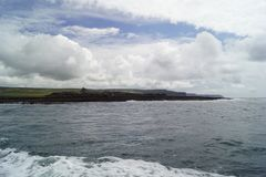 Wild Atlantic Way  Boat trip on the Cliffs of Moher royalty free stock photos