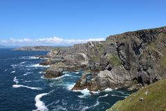 Wild Atlantic Way with the cliffs at Mizen Head Stock Photo
