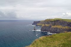Wild Atlantic Way Cliffs of Moher  View to O Briens Tower stock images