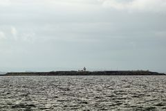 Wild Atlantic Way   The Mutton Island Lighthouse. The Mutton Island Lighthouse is located on the Salthill Promenade in Galway royalty free stock image