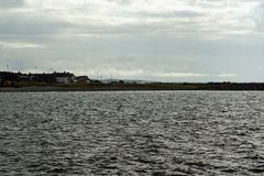 Wild Atlantic Way   The Mutton Island Lighthouse. The Mutton Island Lighthouse is located on the Salthill Promenade in Galway stock photos
