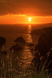 Wild atlantic way rocky sunset Stock Photo