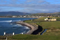 Wild Atlantic Way, Waterville, County Kerry, Ireland. On the Ring of Kerry scenic drive, pretty seaside towns and villages are discovered all along the route Stock Images