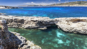 Wild azure coast Stock Photography