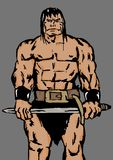 Wild barbarian. Image of a muscular barbarian Royalty Free Stock Images