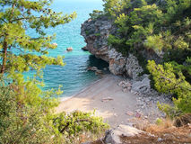 Wild bay on the Mediterranean Sea in Turkey Stock Photo