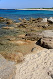 Wild beach. Of South Licciola, north Sardinia Royalty Free Stock Image