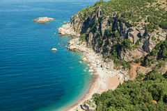 Wild beach on Adriatic Sea coast Stock Images