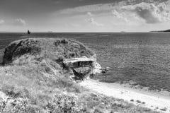 Wild beach, Black sea coast, Burgas, Bulgaria Royalty Free Stock Images