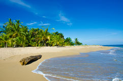 Wild beach Chiquita and Cocles in Costa Rica Royalty Free Stock Photo