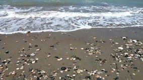 Wild beach closeup. Closeup of wild beach in Rhodes island stock footage