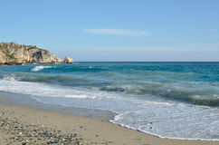 Wild beach of the Costa del Sol Royalty Free Stock Photo