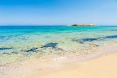 Wild beach on Crete island, Greece Royalty Free Stock Photo