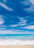 Wild beach of the island of Lefkada Royalty Free Stock Photos