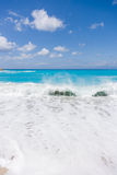 Wild beach of the island of Lefkada Stock Photography