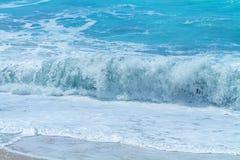 Wild beach of the island of Lefkada Royalty Free Stock Photo