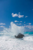Wild beach of the island of Lefkas in Greece Stock Photography