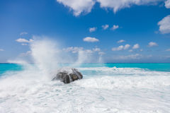Wild beach of the island of Lefkas in Greece Royalty Free Stock Image