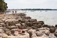 Wild beach. Istria, Croatia Stock Images