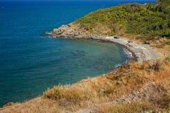 Wild beach lagoon Royalty Free Stock Image