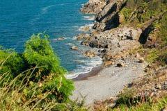 Wild beach lagoon Stock Photo