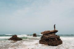 Wild beach Legzira Stock Photo