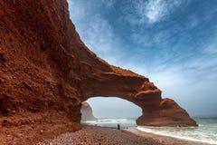 Wild beach Legzira Stock Image