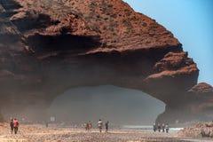 Wild beach Legzira Stock Images